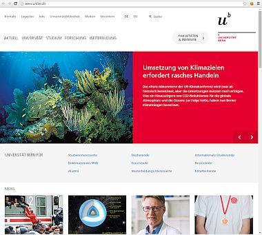 Homepage der Uni Bern